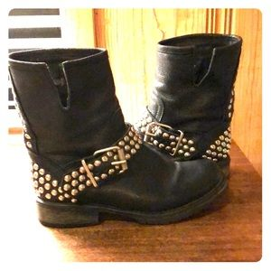 Steve Madden studded motorcycle boot
